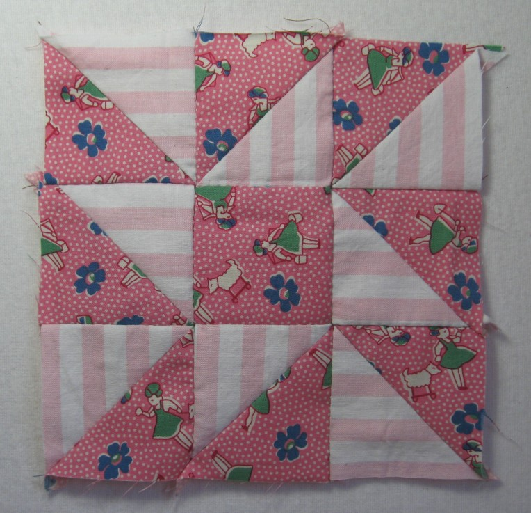 nine patch star patchwork block