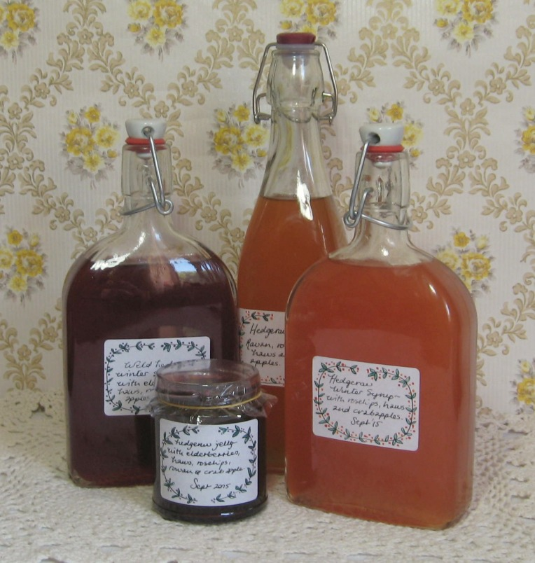 hedgerow syrups for winter throats