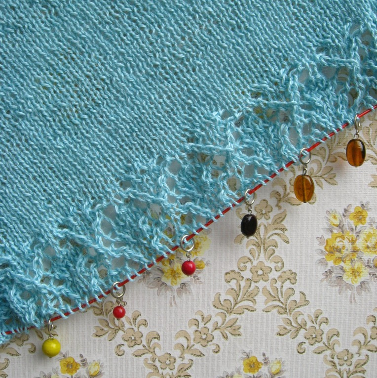 first section of lace from chart A
