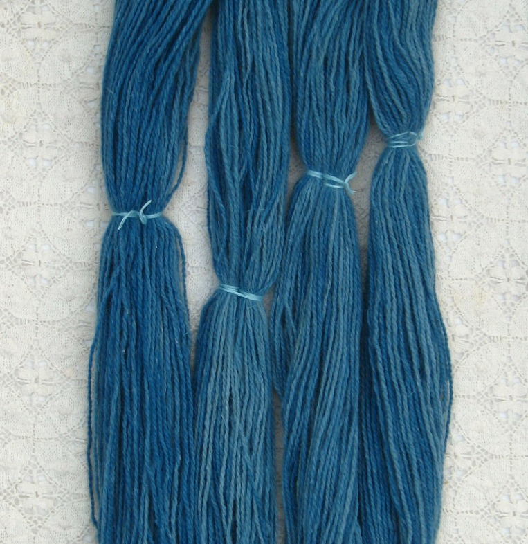 washed skeins of shilasdair